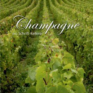 Champagne-ein-Schrift-Kellerei